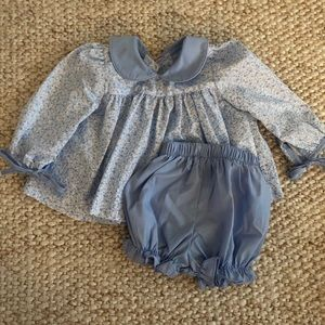 Classic Whimsy top and bloomer set